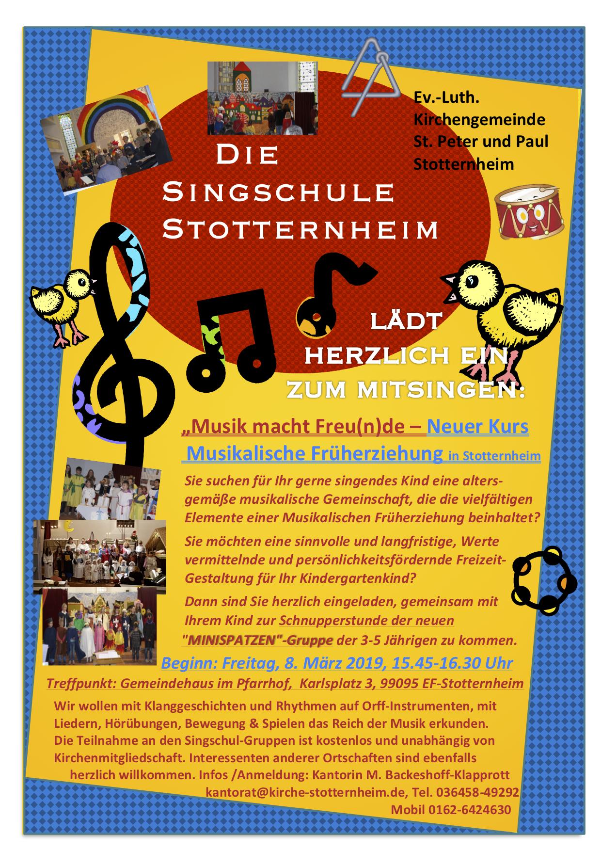 Chorsingen für Kinder, Jugendliche und Erwachsene